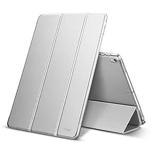 iPad Pro 10.5 ケース ESR 軽量 薄型 半透明 PUレザー 傷つけ防止 三つ折スタンド オートスリープ機能 スマートカバー iPad 10.5インチ 2017最新版専用 全6色 (グレー)