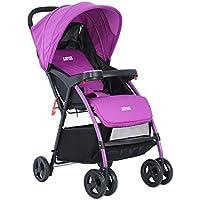 乳母車 ベビーベビーカーは赤ちゃんのベビーカーの赤ちゃん車の傘を横たえることができます 使いやすい (色 : Purple)