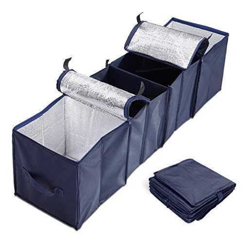 BESROY 車用収納ボックス 折り畳み式 トランクボックス 車載ボックス 雑物収納 小物整理 防水 保温保冷 カー用品 便利生活 青色