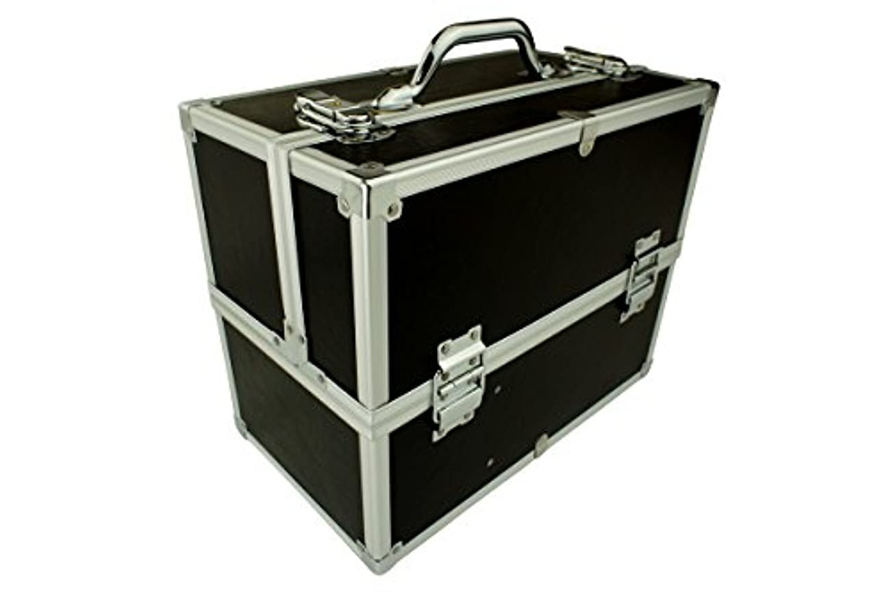 従来の舌なニンニクメイクボックス C2613BK-2 軽量タイプ コスメボックス 化粧箱 メイクアップボックス Make box MAKE UP BOX