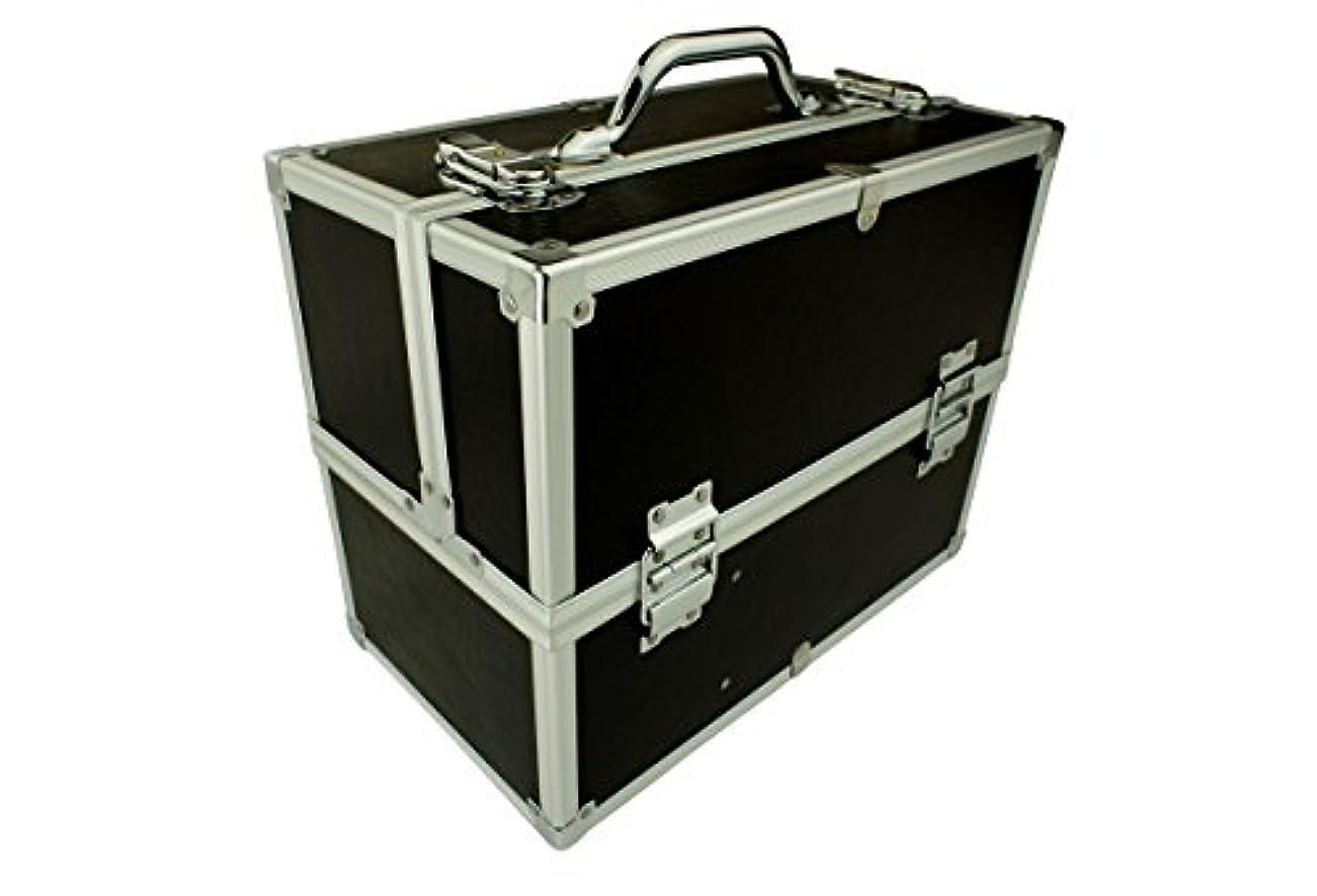 数学者時代意識的メイクボックス|C2613BK-2|軽量タイプ|コスメボックス 化粧箱 メイクアップボックス|Make box MAKE UP BOX