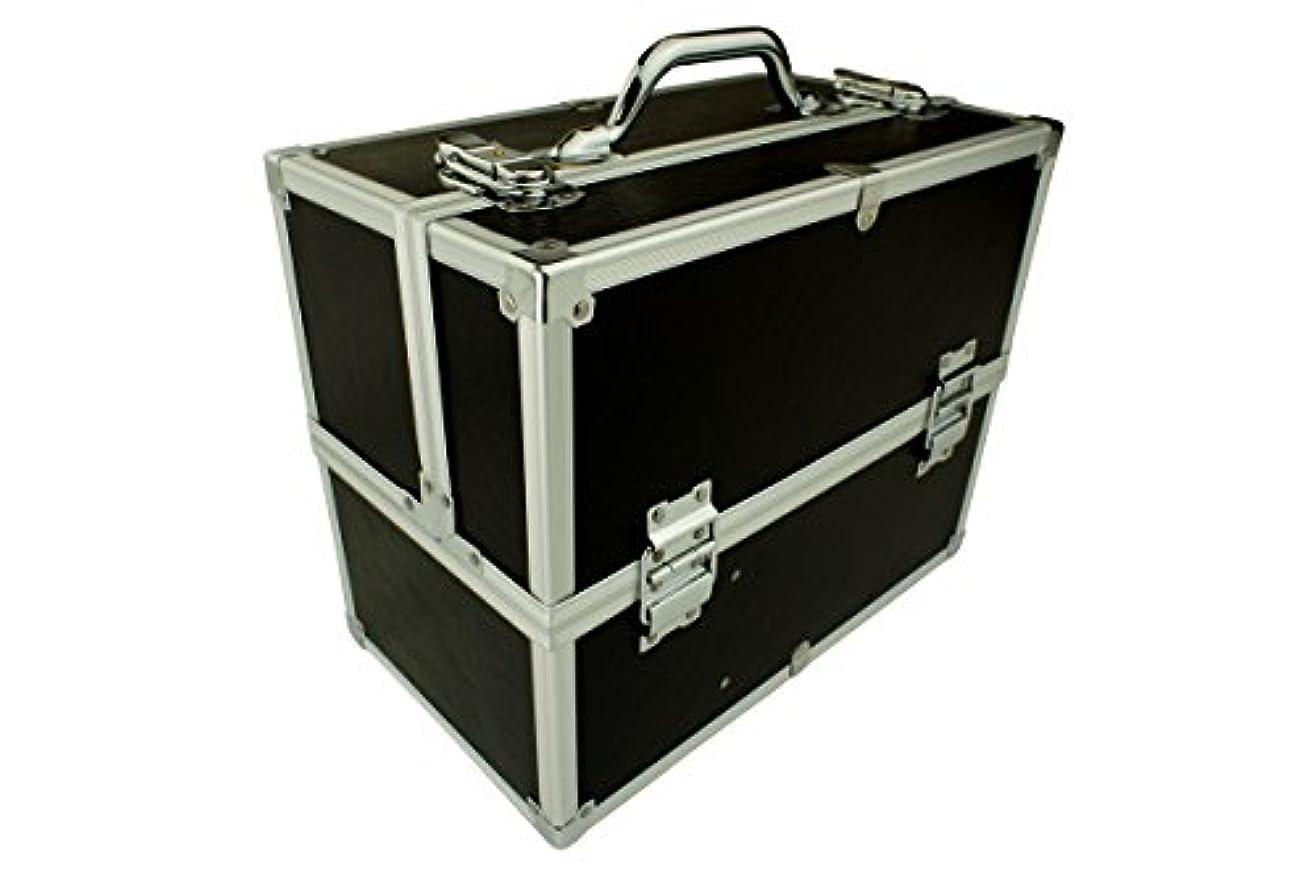 とんでもない眩惑する追うメイクボックス|C2613BK-2|軽量タイプ|コスメボックス 化粧箱 メイクアップボックス|Make box MAKE UP BOX