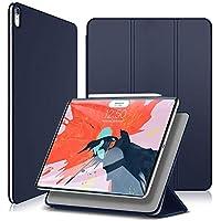 Wonzir iPad Pro 11 ケース2018 Apple Pencilペアリングとワイヤレス充電機能対応 マグネットス吸着式 極薄 3つ折りスタンド オートスリープ機能 傷つけ防止 手帳型 2018秋発売のiPad Pro 11に対応 スマートカバー (ipad pro 11 (2018), ブルー)