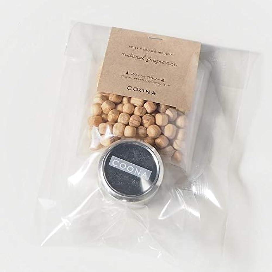 個人的に検出可能弾性ヒノキ ウッド& エッセンシャルオイル ナチュラルフレグランス (メタル缶付き, スウィートフラワー)