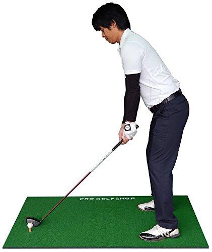 [ゴルフスイング練習マット]BIGドライビングマット100cm×150cm &HIYOKOボール&ラフ芝マット&ゴムティー付き