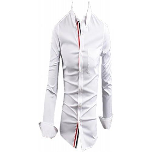 (シャンディニー) Chandeny おしゃれ ワイシャツ メンズ 長袖 スリム フィット ドレスシャツ クール Yシャツ 05131 ホワイト XXXL サイズ