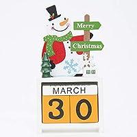 卓上カレンダーブロック 永久カレンダー DIY クリスマス ギフト 雪だるま 鹿 ホルダー 日々のカレンダー