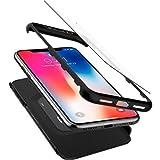 【Spigen】 スマホケース iPhone X ケース 360度保護 レンズ保護 衝撃 吸収 シン・フィット360 057CS22177 (ブラック)