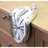 ダリの柔らかい時計 インテリア置き時計 90度曲がったアートクロック アイデアグッズ