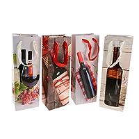 12個 ギフトバッグ ワイン バッグ 紙袋 収納袋 パーティー 2タイプ選べ - #1