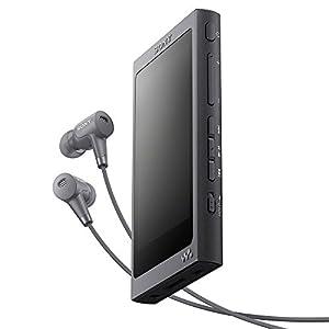 ソニー SONY ウォークマン Aシリーズ 32GB NW-A46HN : ハイレゾ/Bluetooth/microSD対応 最大39時間連続再生 ノイズキャンセリングイヤホン付属 2017年モデル グレイッシュブラック NW-A46HN B