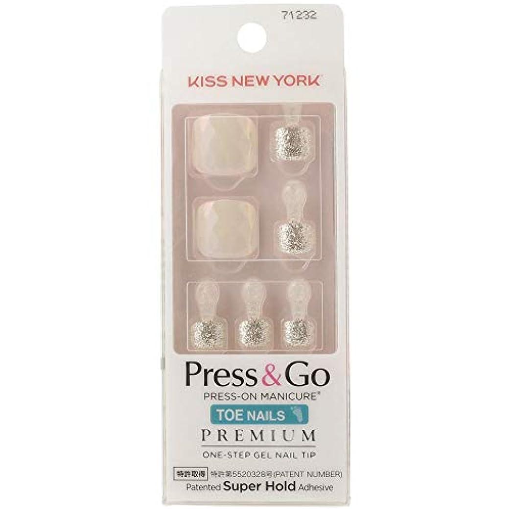 振り返る写真接辞キスニューヨーク (KISS NEW YORK) KISS NEWYORK フットネイルチップPress&Go BHJT10J 18g