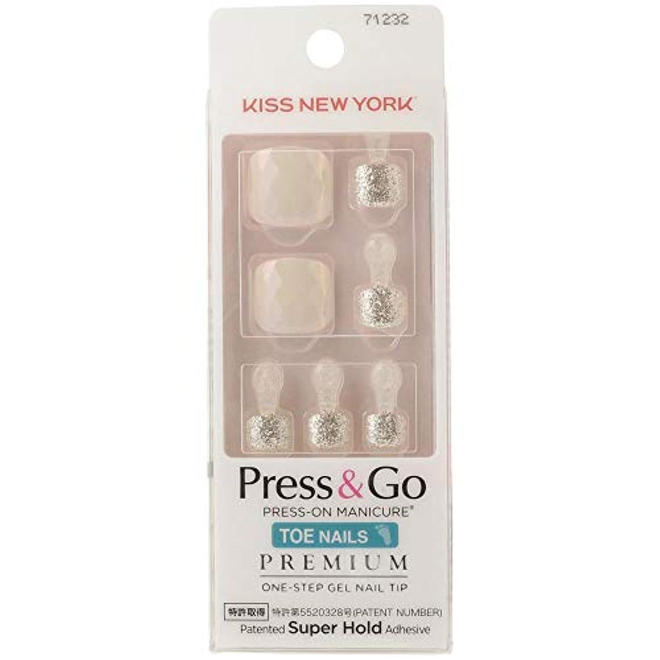 バブル太いストライプKISS NEWYORK フットネイルチップPress&Go BHJT10J