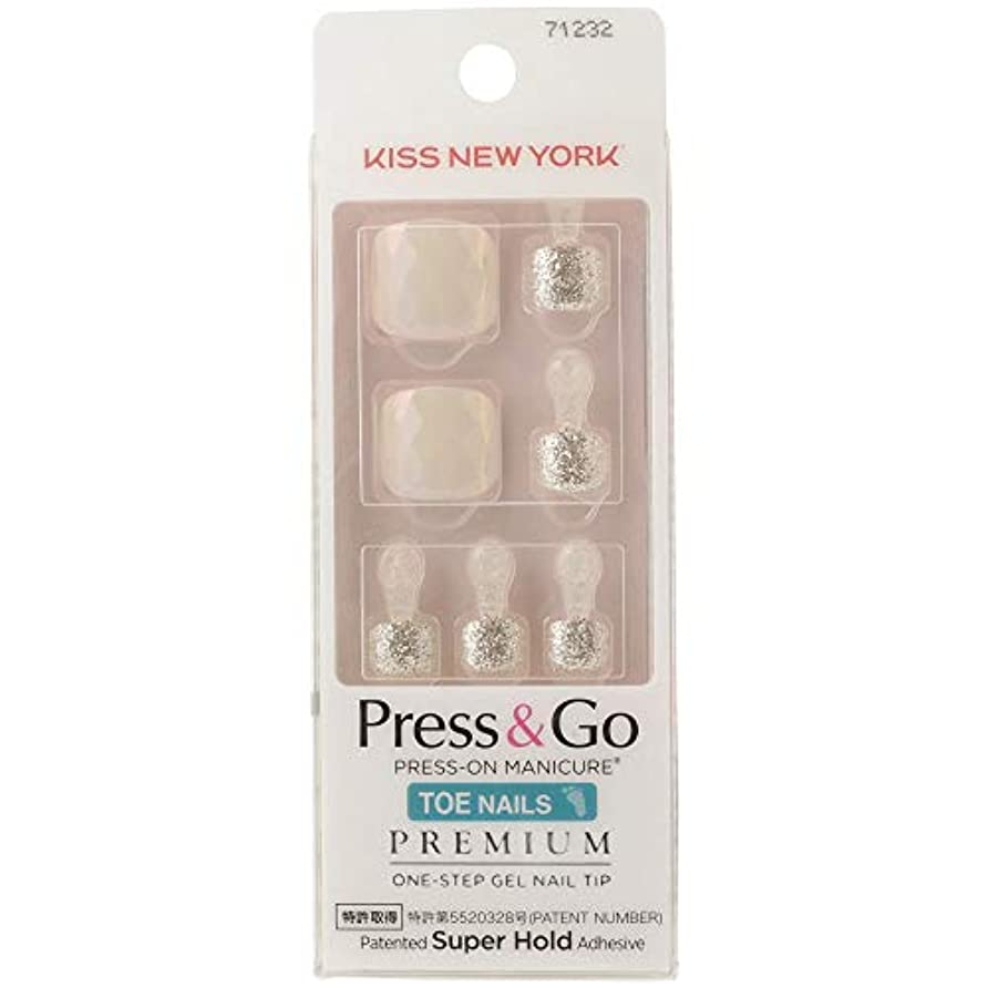 見捨てられた効能ある記事キスニューヨーク (KISS NEW YORK) KISS NEWYORK フットネイルチップPress&Go BHJT10J 18g