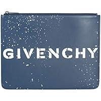 Givenchy Men's BK600JK0JJ404 Blue Leather Clutch