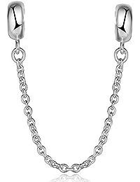 Lovans 2 PCS 925 Sterling Silver Spacer Stopper Charm Pandora Bracelets