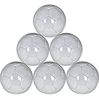 ホワイトMini Soccer Balls 6パックサイズ1 for Practice and Kids – 48 cm円周