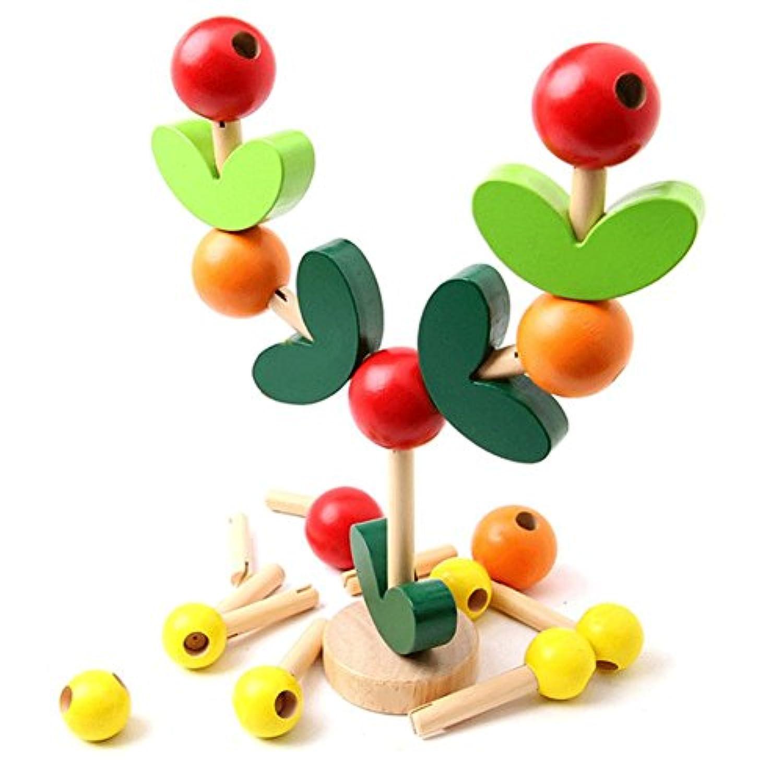建物ブロック知恵ツリー子供バランス教育玩具木製教育玩具幼児ベビー玩具3 +年オールズモビル男の子女の子カラフル、Branches Leaves、果物、