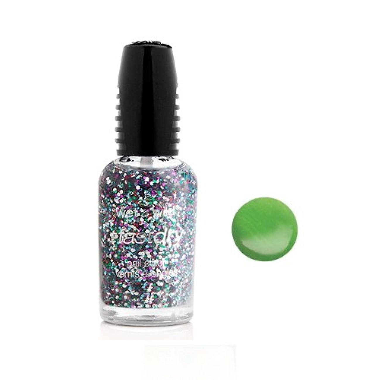 ぬるいクラッチ取るに足らない(3 Pack) WET N WILD Fastdry Nail Color - Sage in the City (DC) (並行輸入品)