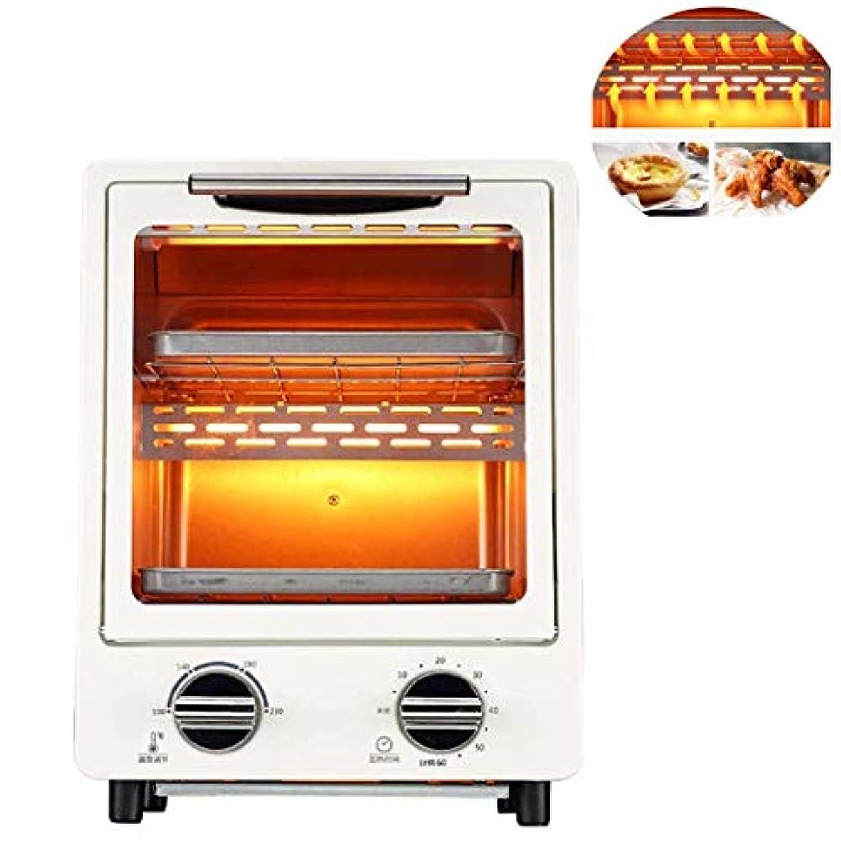 細心の円形乏しいミニ電気対流オーブン垂直ベーカリートースタータイマービスケット家庭用ベーキングクッキーケーキピザパン