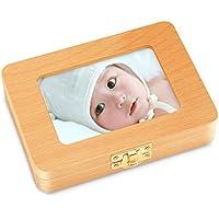 乳歯ケース Seebaby 乳歯入れ 赤ちゃん用 記念 木製 写真入れ 名前と抜けた日シール付き 乾燥用綿付き うぶ毛を入れるミニボトル付き