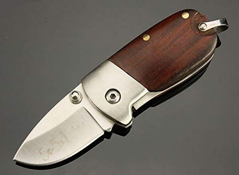 見物人達成可能増幅するSE-BA ピグレット 木製ハンドル, ペンダント 折りたたみナイフ 直刃, ネックナイフ