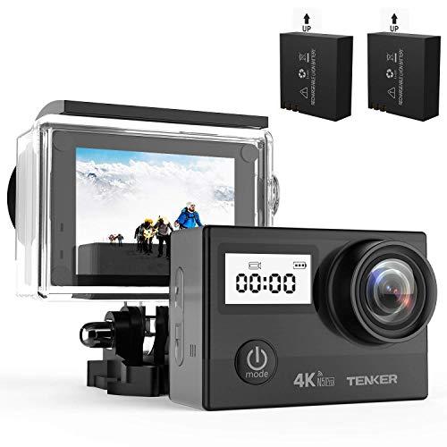 TENKER 4K WiFi アクションカメラ 2000万画素 国産SONYセンサー 手ぶれ補正 170度広角レンズ 1080P 防水可能 2インチ液晶ディスプレイ HDMI出力 視角調整可能 バイク/自転車/車に取り付け可能