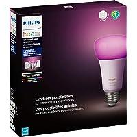 フィリップス - Hue ホワイト&カラー Ambiance LED スターターキット (3個パック) - マルチカラーブリッジと調光器付き