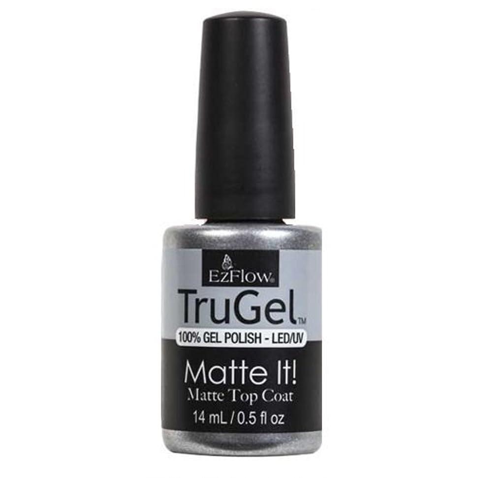 ひらめき暗殺回るEzFlow TruGel Gel Polish - Matte It! Top Coat - 0.5oz / 14ml