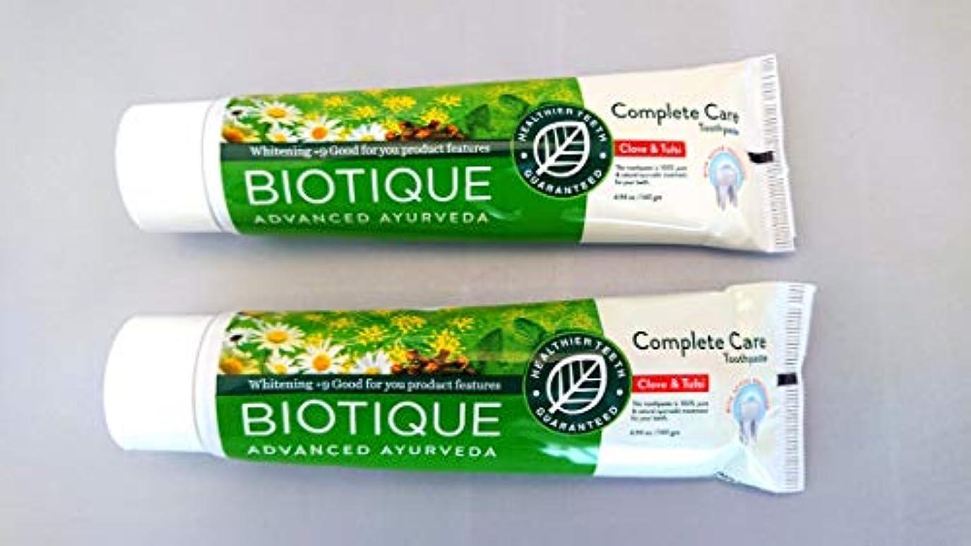 最近医学あいまいなバイオティーク アーユルヴェーダ コンプリートケア 歯磨き粉 140g 2本セット(箱なし)