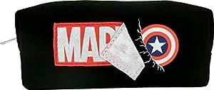 ティーズファクトリー MARVEL マーベル ファブリックロゴ長角ポーチ ブラック 約H7.5×W18.5×D6cm 綿 ポリエステル MV-5570414BK
