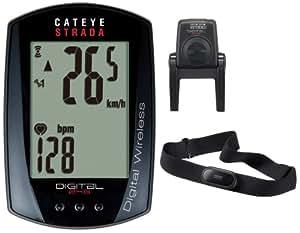 キャットアイ(CAT EYE) ストラーダ デジタルワイヤレス [CC-RD420DW] スピード+心拍センサー セット