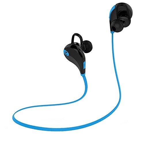 〔6色展開〕SoundPEATS サウンドピーツ Bluetooth イヤホン 高音質 AAC(iPhone,iPad,iPod)コーデック対応 低遅延 CSR社チップ採用 IPX4防水 IP4X防塵 スポーツイヤホン マイク付き ハンズフリー通話 CVC6.0ノイズキャンセリング 音漏れ防止機能 ブルートゥース イヤホン ワイヤレス イヤホン Bluetooth ヘッドホン[メーカー直販 / 1年間保証]QY7 ブラック/ブルー