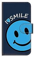 ガールズネオ Xperia XZ1 docomo SO-01K/au SOV36/SoftBank 701SO 手帳型ケース カメラ開口有 (I love SMILE/ブルー) SONY SO-01K-PD-NVR-YSZ-0256