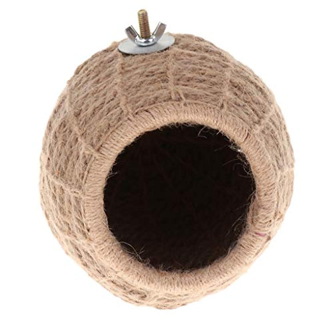 活気づけるお手入れいま飼育ケージ 巣 ベッド 洞窟 繁殖ネスト ペット用 鳥 オウム ハムスター 飼育 実用 全2スタイル - ストローロープ