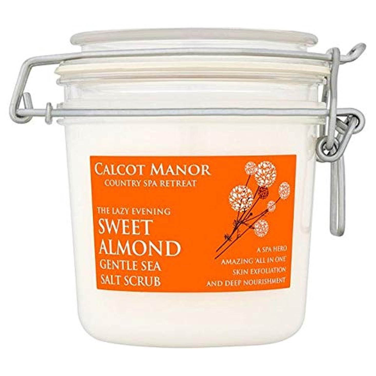 スキャンダラスお手入れイブニング[Blue Orange] カルコットマナースイートアーモンド海塩スクラブ350ミリリットル - Calcot Manor Sweet Almond Sea Salt Scrub 350Ml [並行輸入品]