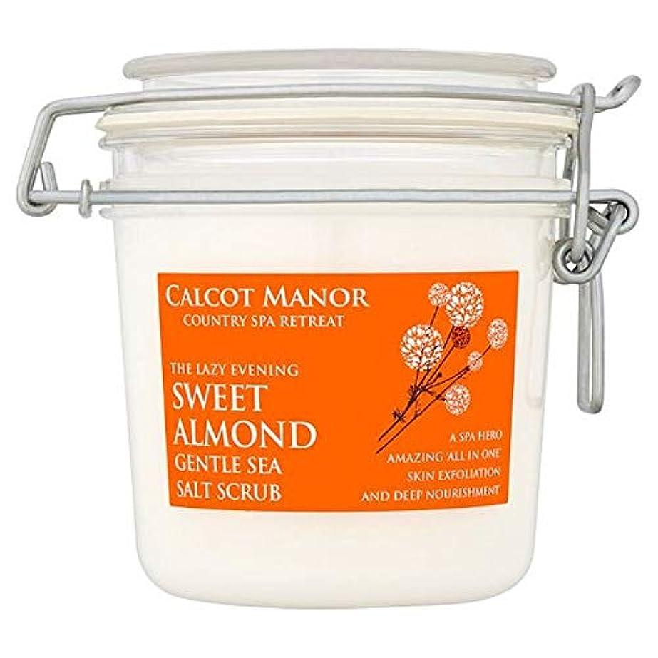 素晴らしい良い多くの横向き才能[Blue Orange] カルコットマナースイートアーモンド海塩スクラブ350ミリリットル - Calcot Manor Sweet Almond Sea Salt Scrub 350Ml [並行輸入品]