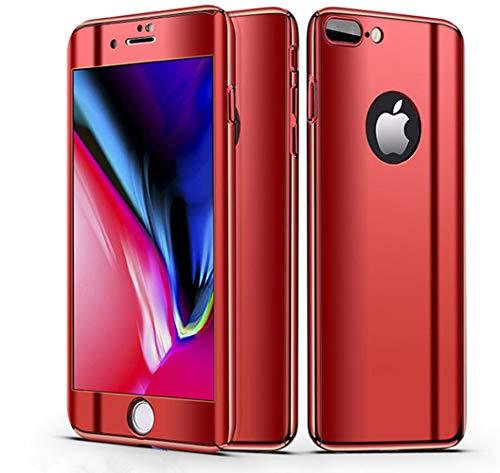 iPhone XS/iPhone 8 Plus/iPhone 7 Plus携帯電話ケースiPhone XメッキミラーiPhoneXS Max保護カバーPCフルケース(特殊強化フィルムを施したもの)