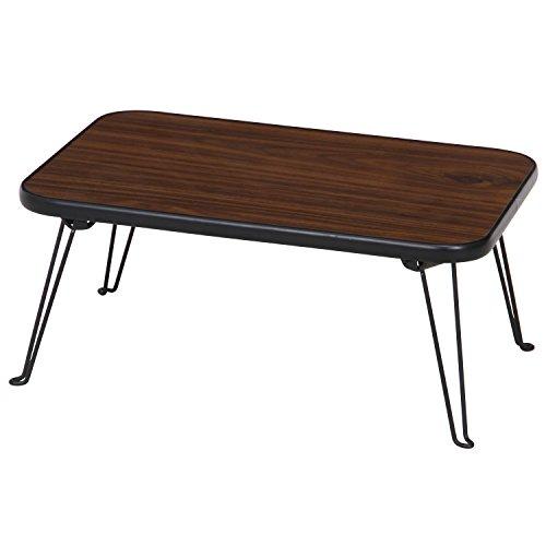 不二貿易 ローテーブル 折りたたみ ちゃぶ台 幅45×奥行30cm ブラウン 10977