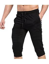 MECH-ENG(メチーエング) ジョガーパンツ ジム 7分丈 メンズ 上質 ロングパンツ トレーニングウェア ジップ ポケット スリムスウェットパンツ