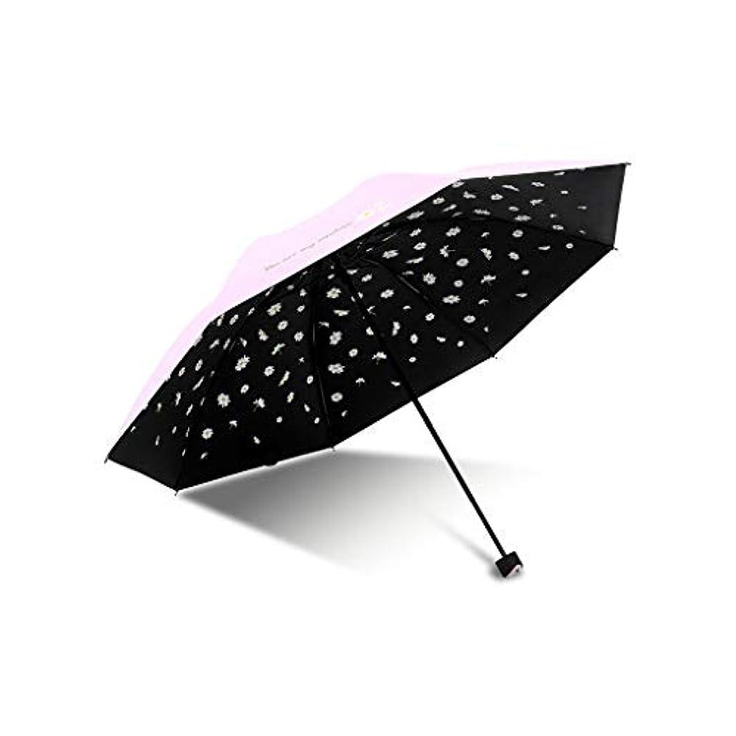 酔ってホットアクセル日傘、自動開閉開閉旅行傘強化換気と防風フレームポータブルコンパクト折りたたみ軽量デザインと高い耐風性 (Color : Pink, Size : L)