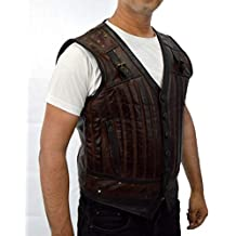 F&H Men's Genuine Cowhide Leather Lost Girl Kris Holden-Ried Dyson Thornwood Vest