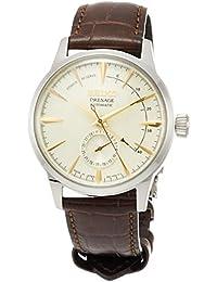 [プレザージュ]PRESAGE 腕時計 PRESAGE メカニカル クリーム色文字盤 ギムレットイメージ ボックス型ハードレックス シースルーバック ブラウンカーフ革バンド SARY107 メンズ