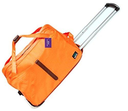 (エスビージェイ) SBJ 旅行バッグ 大容量 旅行かばん トラベルバッグ キャリーバッグ トロリーバッグ 機内持ち込み 軽量 バッグ ボストン 防水 出張 ナンバーロックキー付 (オレンジ orange)