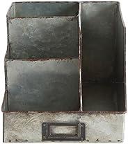 Creative Co-op DA6881 Galvanized Metal Desk Organizer with Compartments