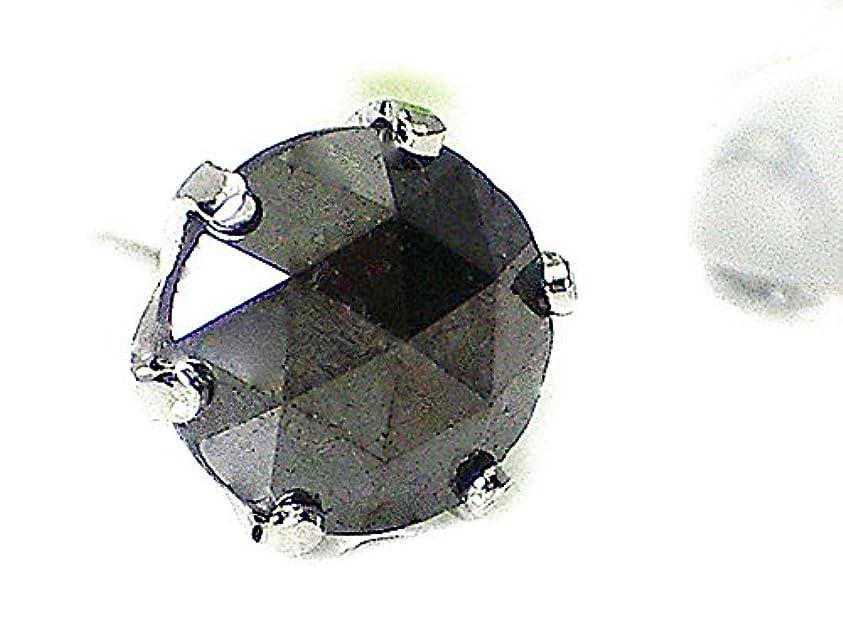 強制困惑するページェントJ-Jewelry メンズピアス片耳用 プラチナ ブラックダイヤ メンズピアス 大きめ1.0ct ローズカット
