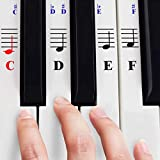 Piano Stickers for 49 / 61/ 76 / 88 Key Keyboards – Transparent and Removable