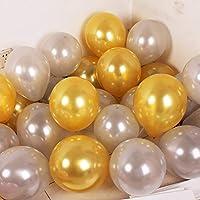 50ピース1.5グラム10 'パールピンクリボンラテックスホワイト風船誕生日結婚式バレンタインデー誕生日パーティーの装飾ヘリウムグローバル,6,50pcs
