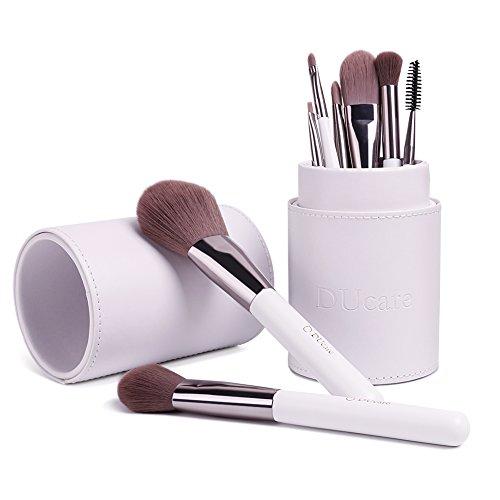 ドゥケア(DUcare)化粧筆 厳選した極細毛をたっぷり使用 メイクブラシ8本セット レザー風ホルダーケース付き