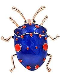 RMXMY 創造的なレトロな人格かわいい漫画動物のブローチ7つ星の虫滴の油のシミュレーション昆虫のユニセックスアクセサリー